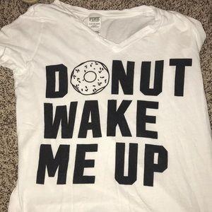 pink donut wake me up shirt